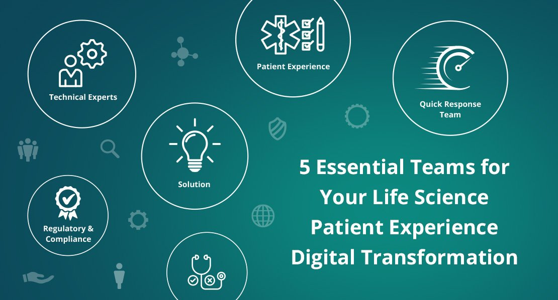 5 Essential Teams for Your Life Science Patient Experience Digital Transformation
